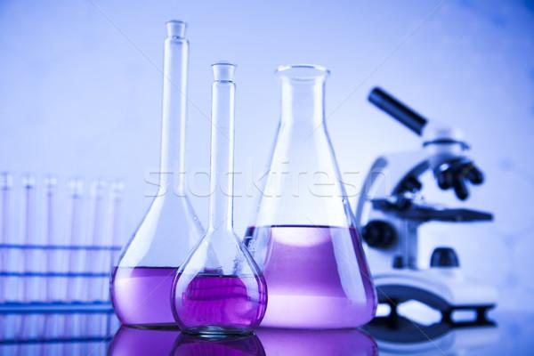 Mikroszkóp orvosi laboratórium üvegáru oktatás gyógyszer Stock fotó © JanPietruszka