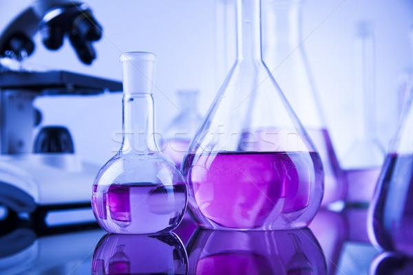 Microscoop medische laboratorium glaswerk onderwijs geneeskunde Stockfoto © JanPietruszka