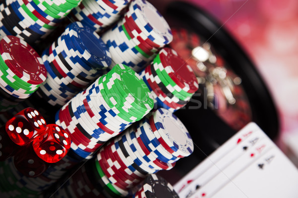 Poker Chips on a gaming concept Stock photo © JanPietruszka