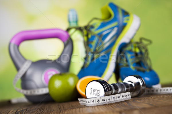 Fitness diet and vitamins concept Stock photo © JanPietruszka