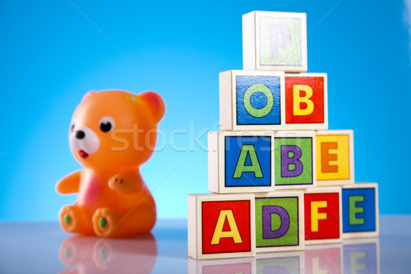 Set of children toys, bright tone vivid composition Stock photo © JanPietruszka