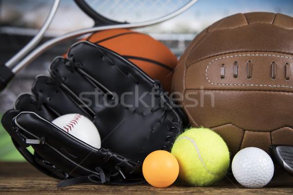Sports balls with equipment  Stock photo © JanPietruszka