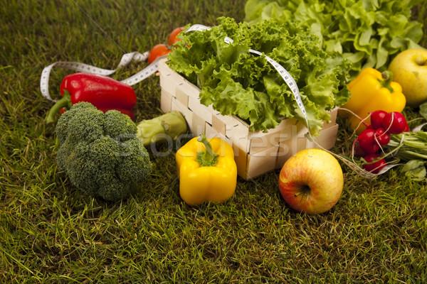 Foto stock: Vitamina · fitness · dieta · grama · verde · saúde · energia