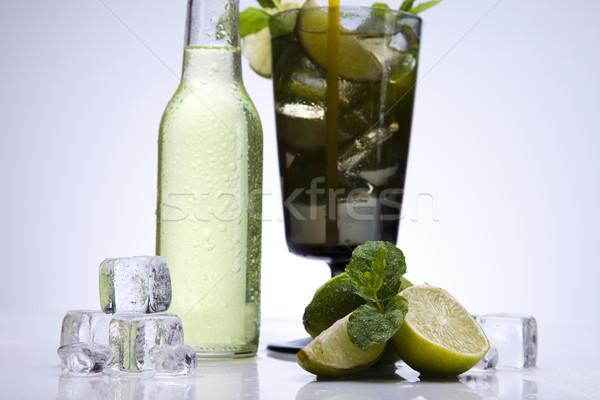 Friss mojito ital levél gyümölcs hullámok Stock fotó © JanPietruszka