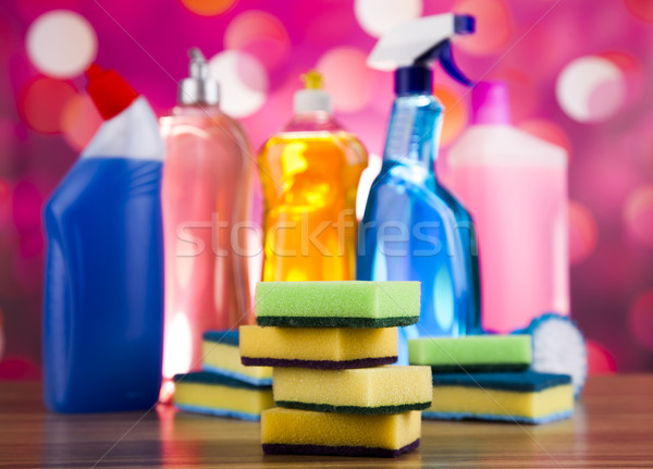 Group of assorted cleaning, home work colorful theme  Stock photo © JanPietruszka