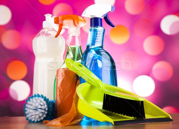 Washing, cleaning stuff, colorful concept Stock photo © JanPietruszka
