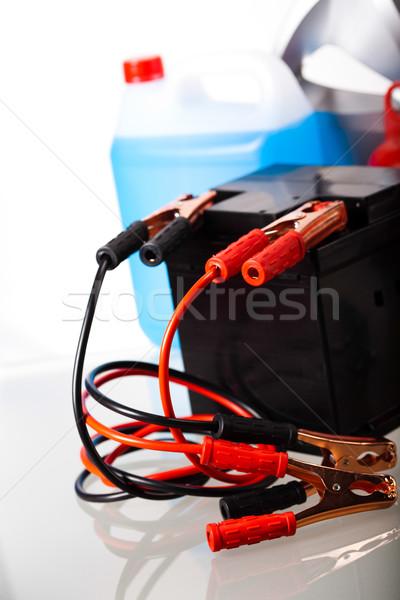 Araba pil canlı moto kırmızı enerji Stok fotoğraf © JanPietruszka