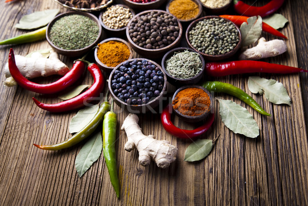 Colorful spices, orintal cuisine vivid theme Stock photo © JanPietruszka