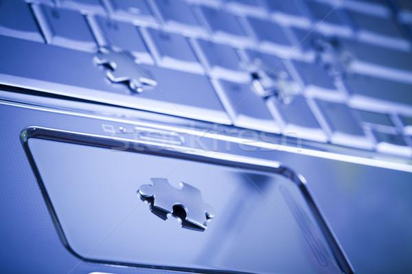 Internet simboli moderno rete imprenditore puzzle Foto d'archivio © JanPietruszka