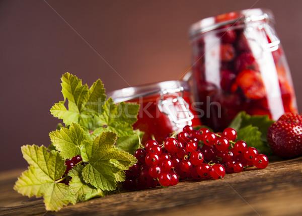 Tasty berry and fruit jam and berry Stock photo © JanPietruszka