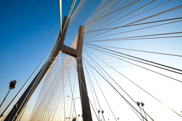 Most punkt orientacyjny widoku niebo budynku budowy Zdjęcia stock © JanPietruszka