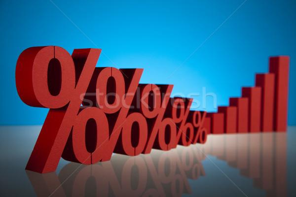 パーセンテージ ビジネス にログイン 赤 銀行 成功 ストックフォト © JanPietruszka