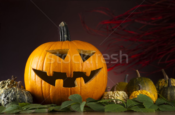 Halloween Pumpkin, Scary Jack Stock photo © JanPietruszka