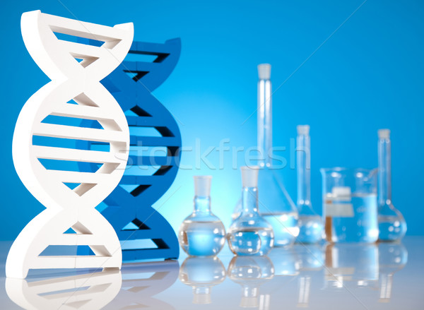 DNA molecules, Laboratory Stock photo © JanPietruszka