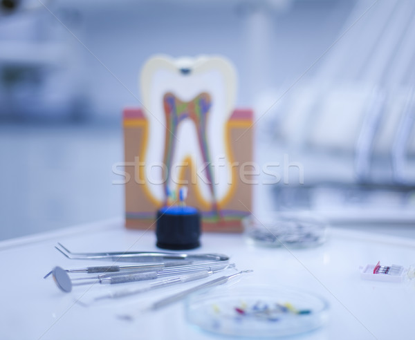 Diş hekimliği aletleri doktor tıp ayna araç profesyonel Stok fotoğraf © JanPietruszka
