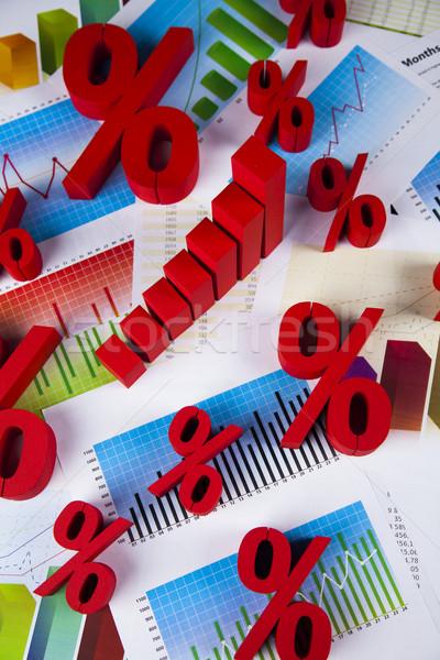 Szimbólum százalék árengedmény felirat piros pénzügy Stock fotó © JanPietruszka