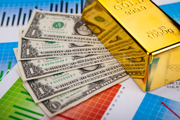 Gold background, ambient financial concept Stock photo © JanPietruszka