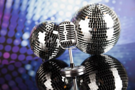 Vintage microphone, music saturated concept Stock photo © JanPietruszka