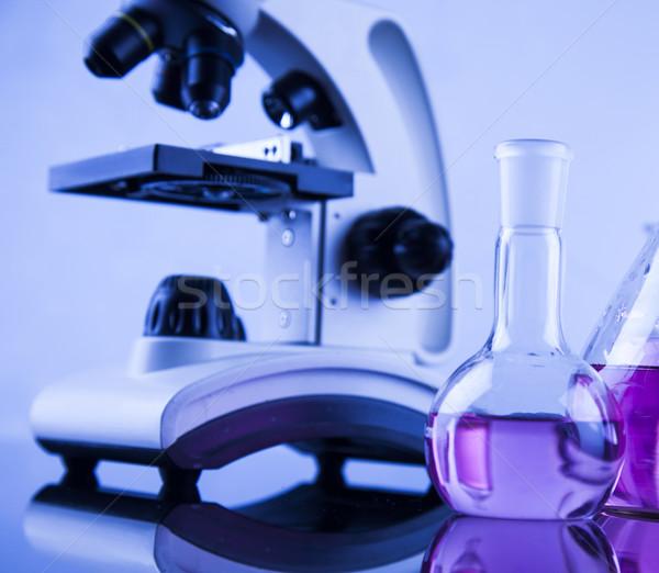 Mikroszkóp orvosi laboratórium kutatás kísérlet oktatás Stock fotó © JanPietruszka