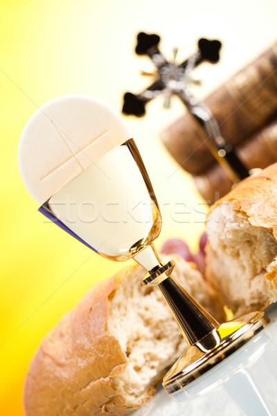 Heilig communie heldere jesus brood bijbel Stockfoto © JanPietruszka