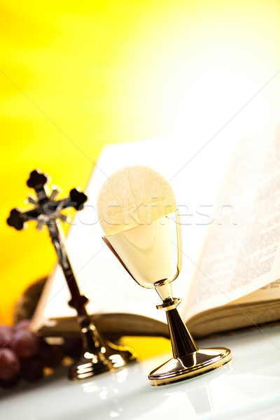 Stock photo: Symbol christianity religion, bright background, saturated conce
