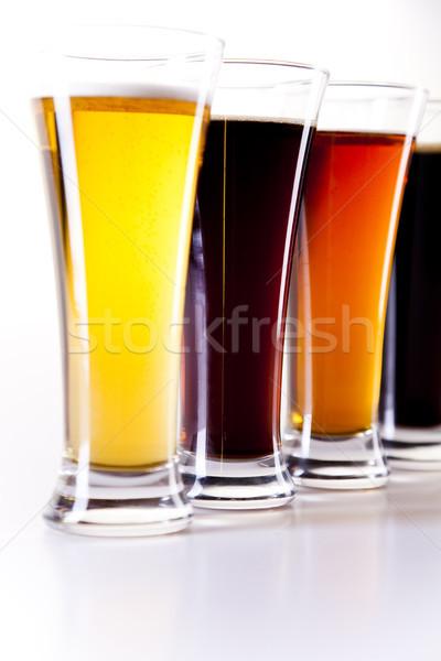 Bière lumineuses dynamique alcool fête verre Photo stock © JanPietruszka