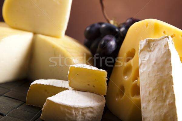 Zdjęcia stock: Ser · martwa · natura · wiejski · kuchnia · mleka · ciemne