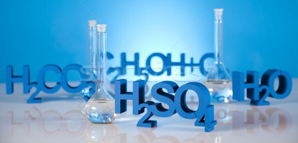 Chimie formule science bouteille laboratoire horizons Photo stock © JanPietruszka