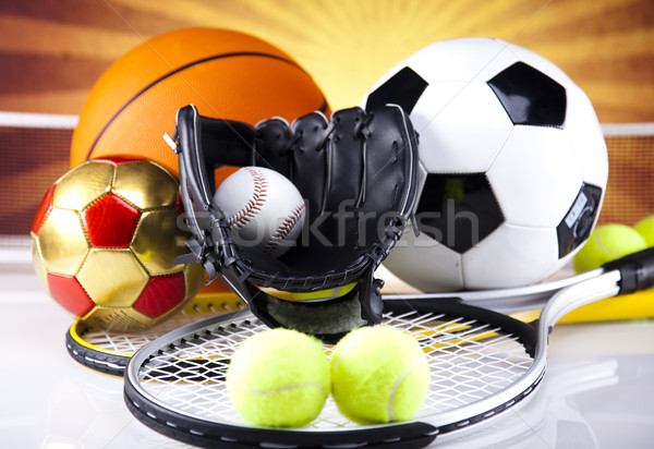 спорт оборудование гольф Футбол теннис Сток-фото © JanPietruszka
