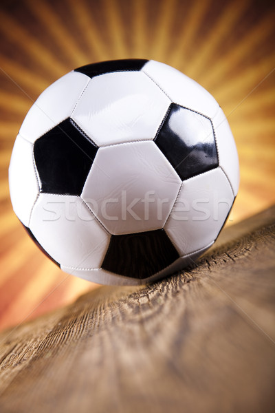Soccer ball and sunshine Stock photo © JanPietruszka