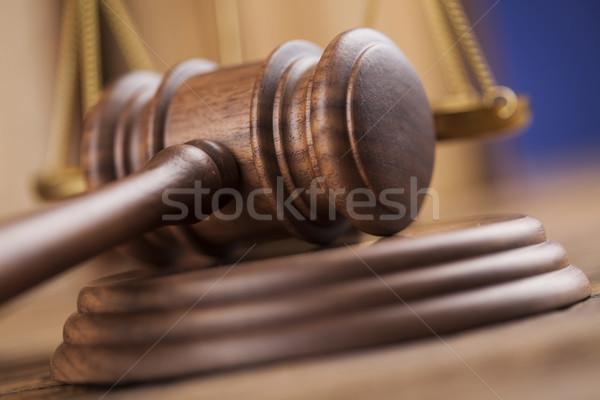 молоток правосудия правовой прав молота Сток-фото © JanPietruszka