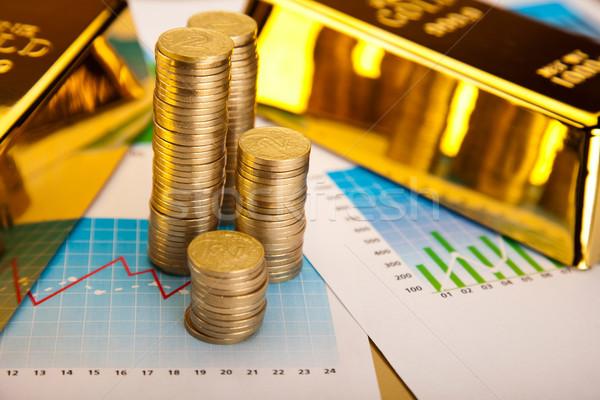 деньги монетами финансовых металл банка рынке Сток-фото © JanPietruszka