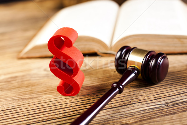 Tribunal juge bois justice avocat crime Photo stock © JanPietruszka