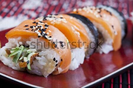 Sushi tasty traditional japanese food Stock photo © JanPietruszka