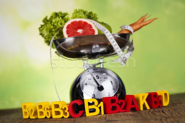Witamina fitness diety życia zdrowia sportu Zdjęcia stock © JanPietruszka