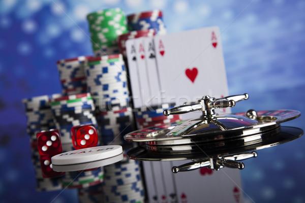 Casino roulette giocare chip divertimento nero Foto d'archivio © JanPietruszka