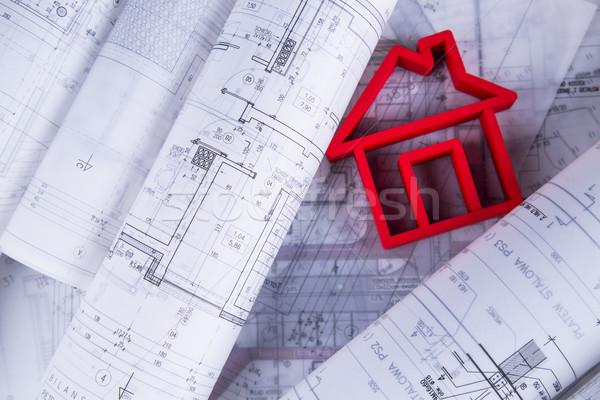 Otthon modell terv rajz ház építészet Stock fotó © JanPietruszka
