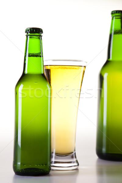 The still life with beer, bright vibrant alcohol theme Stock photo © JanPietruszka