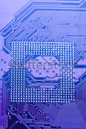 Closeup of detail of electronic main board Stock photo © JanPietruszka