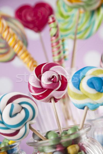 Kleurrijk tabel gom glas Stockfoto © JanPietruszka