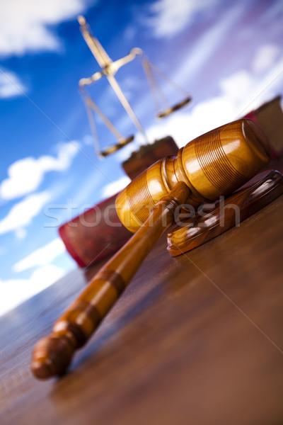 Wooden gavel barrister, justice concept  Stock photo © JanPietruszka