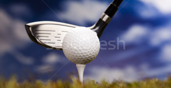 Playing golf, ball on tee  Stock photo © JanPietruszka
