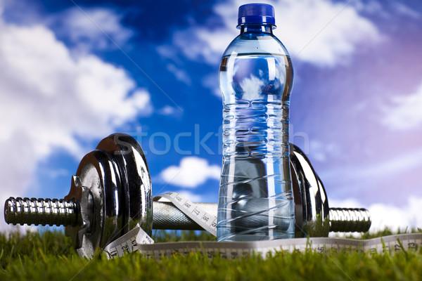 Zdjęcia stock: Zielona · trawa · fitness · zdrowia · mięśni · tłuszczu · świeże
