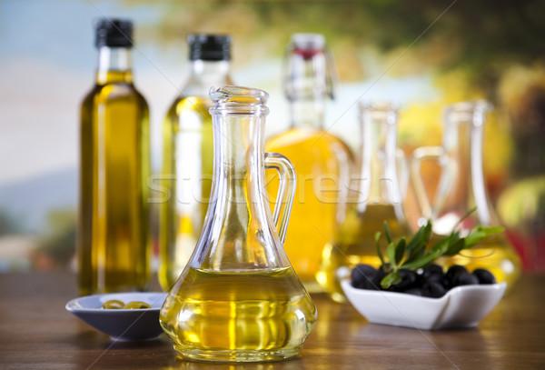 ストックフォト: オリーブオイル · オリーブ · ツリー · 太陽 · フルーツ · 健康