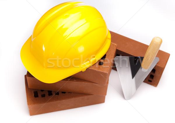 Construction outil bâtiment mur travaux maison Photo stock © JanPietruszka