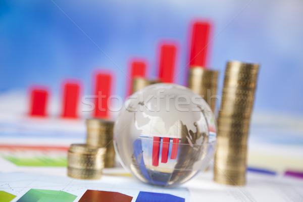 Pourcentage naturelles coloré signe rouge Finance Photo stock © JanPietruszka