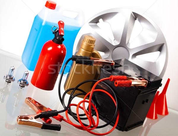 Auto batteria moto rosso energia Foto d'archivio © JanPietruszka