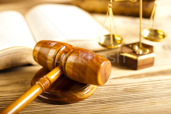 Judges wooden gavel and paragraph Stock photo © JanPietruszka