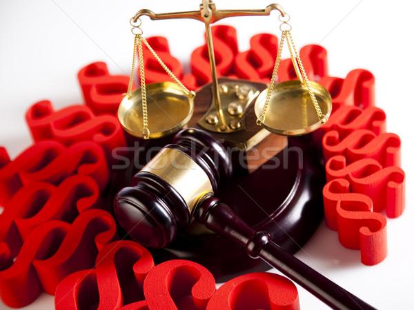 Gabela parágrafo madeira justiça advogado Foto stock © JanPietruszka