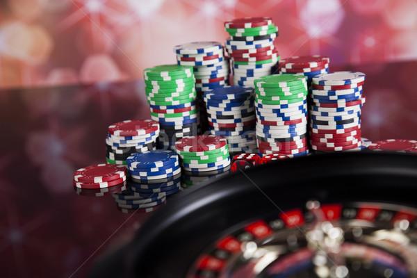 カジノ ルーレット 演奏 チップ 楽しい 黒 ストックフォト © JanPietruszka
